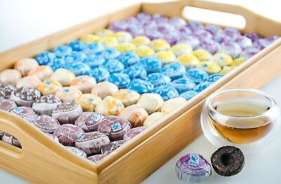 Lots of 5pcs Mini Puer Cooked Ripe Tuo Cha China Health Tea Cake- 5 Flavours
