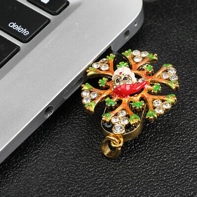 USB 2.0 Flash Drive Memory Pen Stick U Disk Swivel Snow Key for PC