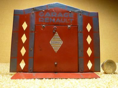 Allerseltenste !!! Blech Auto Garage Jouets Renault France Tole Art Deco 0320