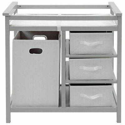 CHERRY BADGER BASKET Modern Diaper Changing Table with 3 ...