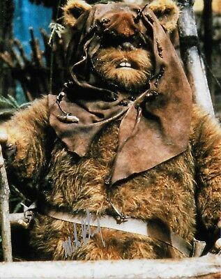 Photo - Michael Henbury in person signed autograph - Star Wars - Ewok