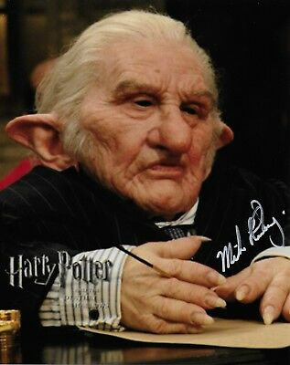 Photo - Michael Henbury in person signed autograph - Harry Potter - Goblin