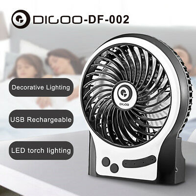"Digoo DF-002 4"" Portable Rechargeable USB Cooling Desktop Fan Notebook Cooling"