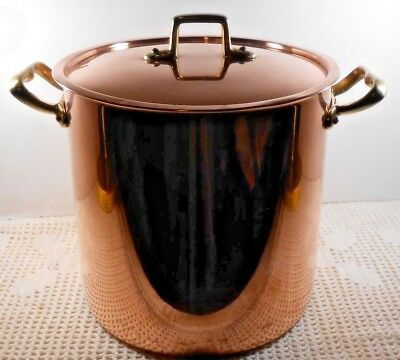 Vtg ODI Heavy Solid Copper Stockpot w/Lid Six (6) Quart