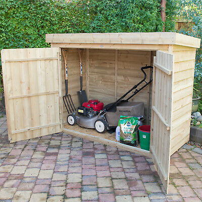 Forest 6.3'x2.4' Timber Wooden Large Pent Outdoor Storage Shed Bike Mower Store
