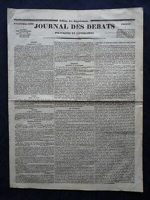 1836 Vintage French Newspaper Louis Philippe I Constantinople Italy Cholera