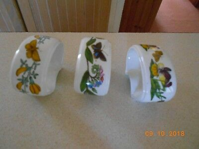 Portmeirion Botanic Garden Set Of 3 Napkin Rings