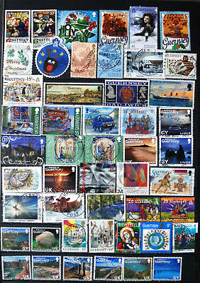 Fine Collection of Different Used Guernsey Stamps.