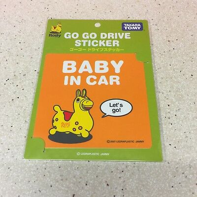 Rody Baby In Car Safety Sticker Sign Good Quality Made In Japan