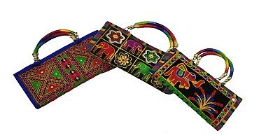 Wholesale Lot Of 3 New Indian Handmade Clutch Purse Bags For Wedding Diwali Gift