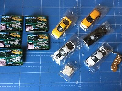 1/72 Scale,Yujin,SR,Initial D Real Model Collection,All 5 Cars Complete Set