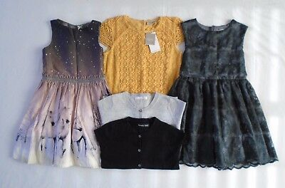 Girls NEXT Clothes Bundle Party Dresses & Cardigans 6-7 Years Ochre Dress BNWT