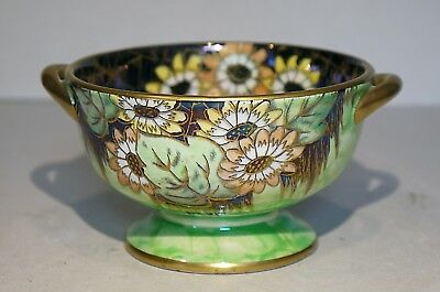 Maling Daisy dish - 1930's lustred & gilded