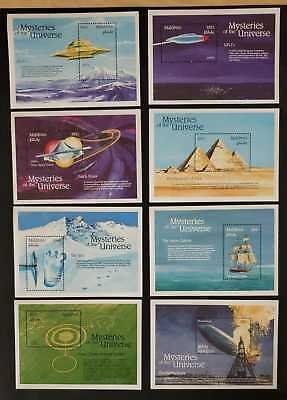 Maldives 1992 - Mysteries of the Universe Stamps Set of 16 Souvenir Sheets - MNH