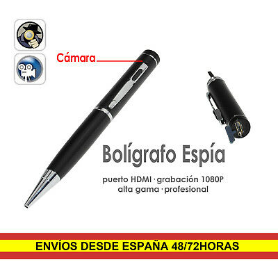 Boligrafo espia Full HD 1080P Camara Oculta DVR Deteccion movimiento Hasta 64GB