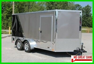 CONSTRUCTION SALE United Cargo Enclosed Motorcycle Trailer Two-Tone Screwless