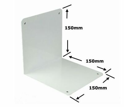 Twin Slot Upright Free Standing Bookend White 150mm
