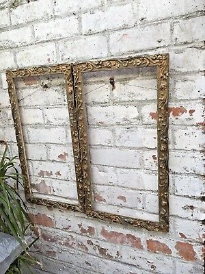 Pair Of Vintage Antique Wooden Picture Frames elaborate
