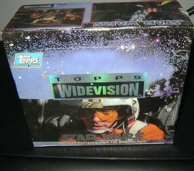 vintage Star Wars A NEW HOPE WIDEVISION FACTORY SEALED BOX TOPPS 1994