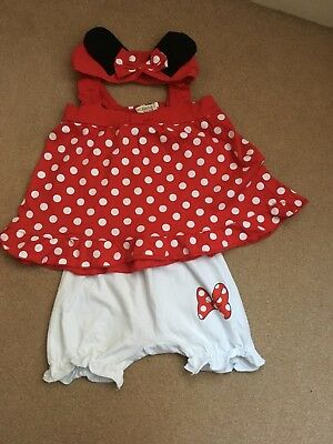 Minnie mouse baby girl sumer set 18-24 months