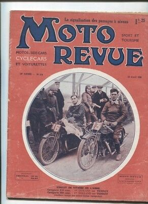 Moto Revue N°194 : 15 avril 1926 / la voiturette A.S , transformation cyclecar