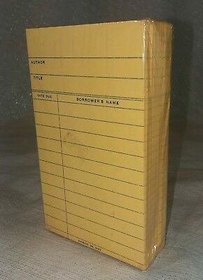 New VTG Library Book Check Out Cards - Author, Title, Date Due, Borrower's Name