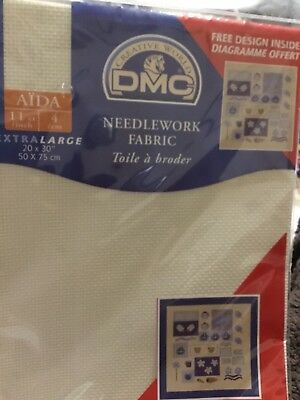 DMC Needlework Fabric Cross Stitch AIDA Fabric  Xlarge 50x75cm