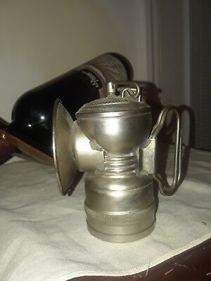 Rare 1901 Baldwin Carbide Antique Old Mining Miners Mine Lamp Light Simmons Co.