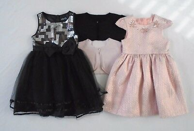 Girls Clothes Bundle Party Dresses and Cardigans Pink & Black 6-7 Years