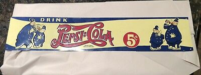 Pepsi Cola Double Dot Pepsi & Pete Cops Police Metal Sign -Knock Off
