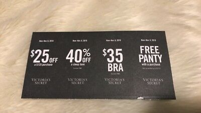 4721f4964ebf Victorias Secret 4 Coupons $25 OFF $35 BRA $10 OFF PANTY w Purchase Exp 11/
