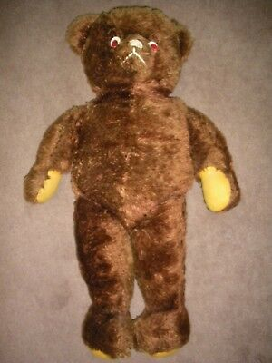 """Antique / Vintage   Late 1940's / Early 1950's   29"""" Stuffed Brown Teddy Bear"""