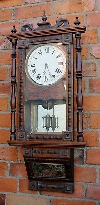 1880s VICTORIAN VIENNA WALL CLOCK with CHIMES in very good working condt