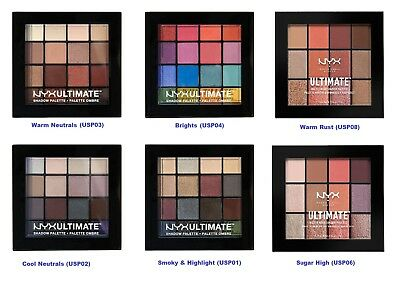 NYX Ultimate Multi Finish Eye Shadow Palettes - SELECT YOURS