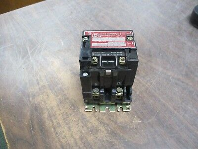 Square D Lighting Contactor 8903 SMG 1 30A 480V Coil Used