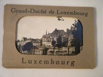 Set of 10 Vintage Souvenir Photos Luxembourg 1953