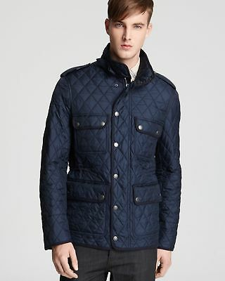 BURBERRY BRIT Men's Navy Russell Quilted Barn Jacket Sz M $695 NEW