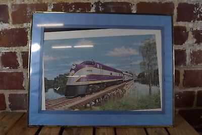 "Framed ""The Champion"" Atlantic Coast Line Railroad Art Print"