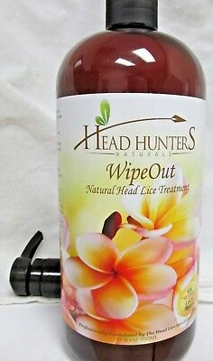 Head Hunters Naturals Wipe Out Natural Super Lice Treatment - 32 oz With Pump