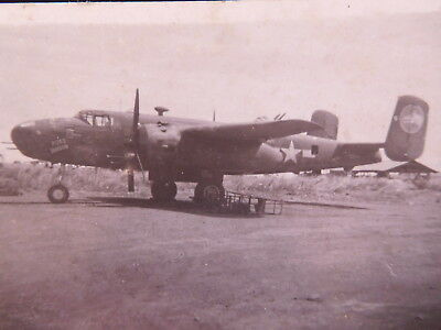 Original WWII photograph of B-25 bomber RITA'S WAGON 345th Bomb Grp. Air Apaches