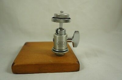 Vintage E. Ernst Leitz Wetzlar tripod ball head with handmade wood base
