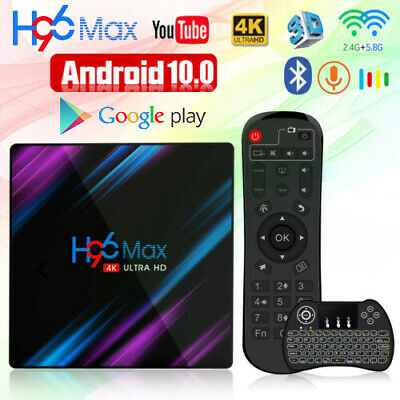 H96 Max Plus Android 8.1 TV Box RK3328 4GB 64GB 4K 2.4G&5G WiFi Media Streamers