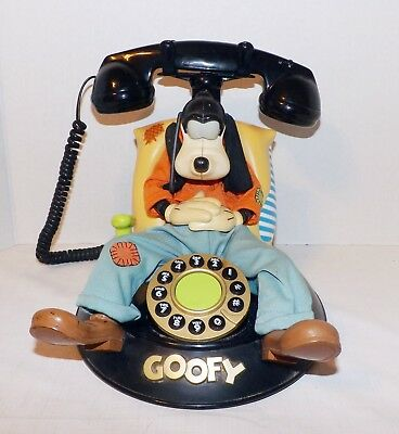 Vintage Disney Goofy Animated Talking Telephone-Works Great-Lots Of Features!