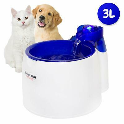 Cat/Pet Water Fountain Low Noise LED Light 6 Month Filter Included 3 Liter Dog