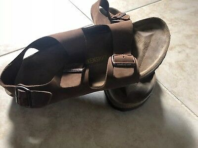 d7626409d131 BIRKENSTOCK MILANO OILED Leather Footbed Sandals