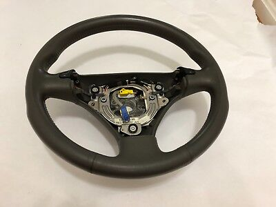 AUDI A4 B6 Grey Leather Sport Steering Wheel 2002 2003 2004 2005 2006 w/buttons