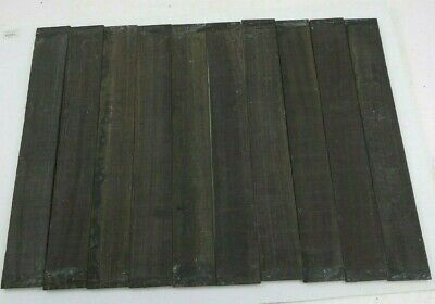 "(10) Lot of 10 GABOON EBONY GUITAR/LUTHIER/FINGERBOARD BLANK 3 x 21"" FREE SHP #4"