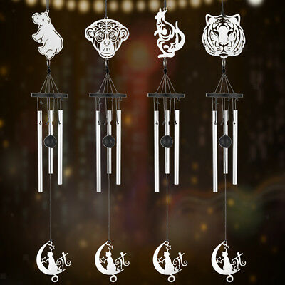 Moon Perfect Crystal 4 Metal Tubes Windchime Wind Chime Home Garden Decor #C