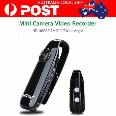 1080P Full HD Mini Camera Police Body Bike Security 130° Loop Record F2.0 USB2.0