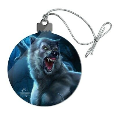 Crazy Scary Werewolf Monster Acrylic Christmas Tree Holiday Ornament